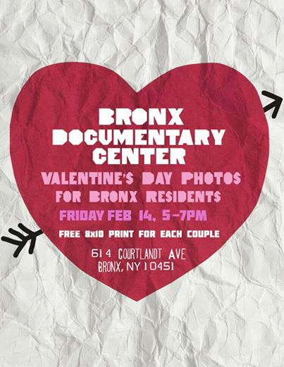Free Valentine's photos at the Bronx Documentary Center