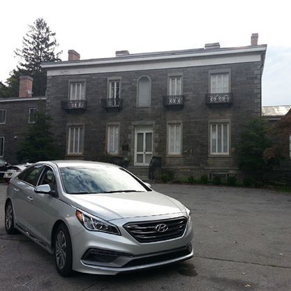 Checking out the 2015 Hyundai Sonata