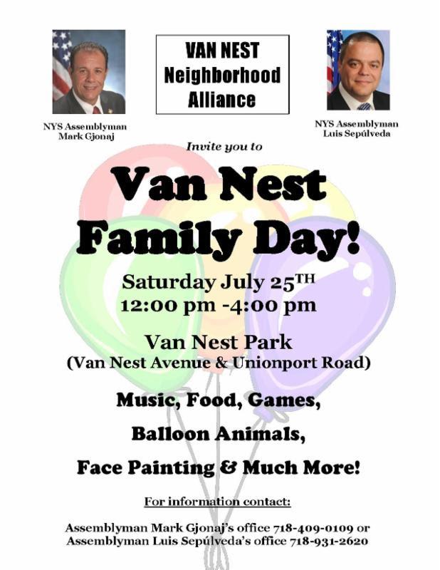Van Nest Family Day