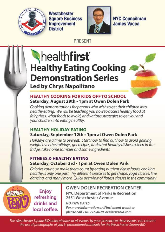 Healthy Eating Cooking Demonstration Series