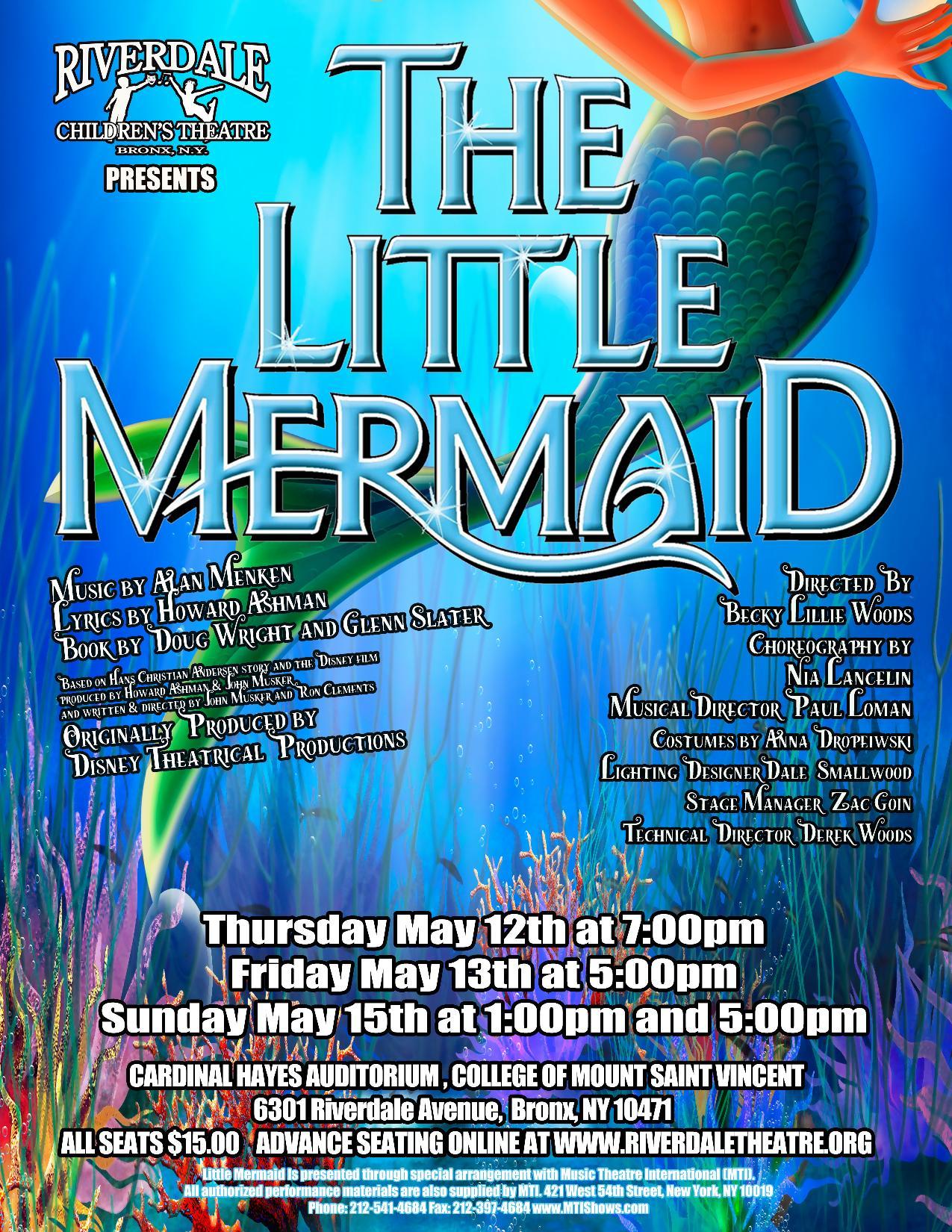 Riverdale Children's Theatre Presents Disney's The Little Mermaid
