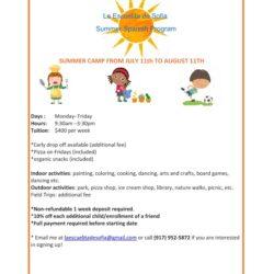 Registration Open for Escuelita de Sofia Summer Spanish Program