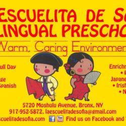 Registration Now Open for 2's and 3's at Escuelita de Sofia Bilingual Preschool