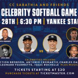 Giveaway: CC Sabathia & Friends Host Celebrity Softball Game at Yankee Stadium