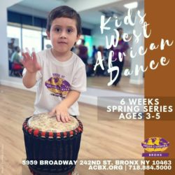 Sign Up for this 6 week West African Dance Class for Kids 3-5