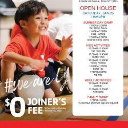 Free Open House at Castle Hill YMCA