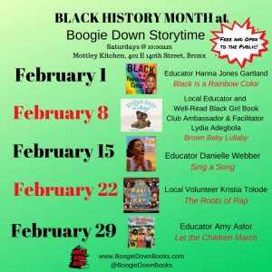 Black History Month at Boogie Down Storytime